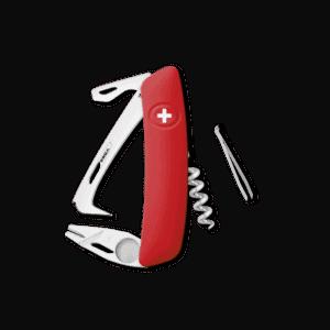 SWIZA Swiss Knife SWIZA HO03R-TT Red - KHO.0070.1000