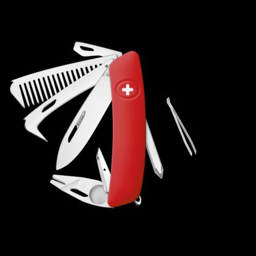 SWIZA Swiss Knife SWIZA HO09R-TT Red - KHO.0160.1000